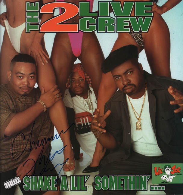 The 2 Live Crew Autographed Signed Shake Somethin Lp Flat