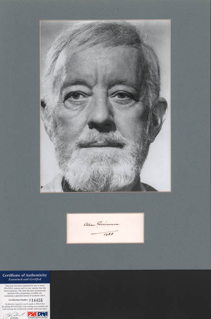 Sir Alec Guinness Autographed Matted 8x10 Star Wars Photo PSA